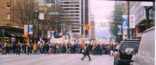 Feb 15, 2003 World protest of War on Iraq, Vancouver, Canada